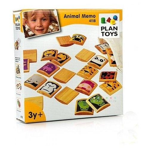 Настольная игра PlanToys Мемо Животные шпаргалки для мамы настольная игра мемо 1