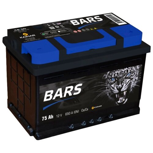 Автомобильный аккумулятор BARS 6СТ-75 АПЗ о.п.