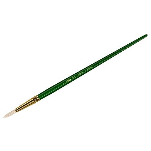 Купить Кисть ГАММА Пейзаж щетина №7, круглая, длинная ручка зеленый, Кисти