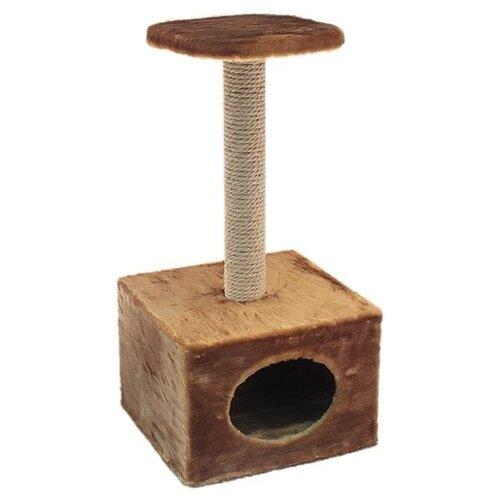 Игровой комплекс Дарэлл Чип малый с полкой 36 х 35 х 71 см коричневый игрушка для грызунов дарэлл кубик малый деревянный 10 х 10 х 11 5 см 1 шт