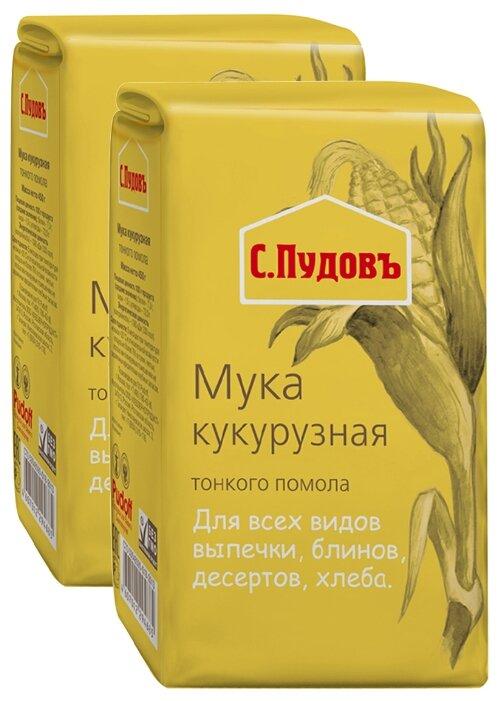 Мука С.Пудовъ кукурузная, 2 шт, 0.45 кг