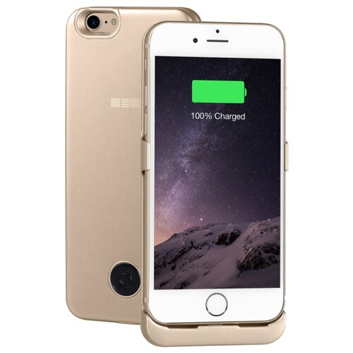 Купить Чехол-аккумулятор INTERSTEP Metal battery case для iPhone 7/8 gold