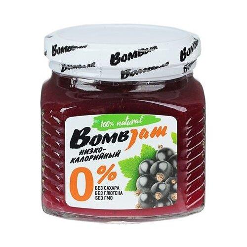 Джем низкокалорийный BombBar Черная смородина без сахара, банка 250 г