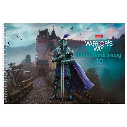 Купить Альбом для рисования Hatber Путь воина 29.7 х 21 см (A4), 100 г/м², 40 л., Альбомы для рисования