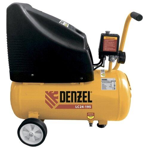 Компрессор безмасляный Denzel LC 24-195, 24 л, 1.1 кВт
