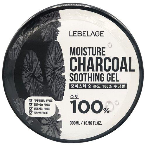 Купить Гель для тела Lebelage увлажняющий успокаивающий с углем Moisture Charcoal 100% Soothing Gel, 300 мл