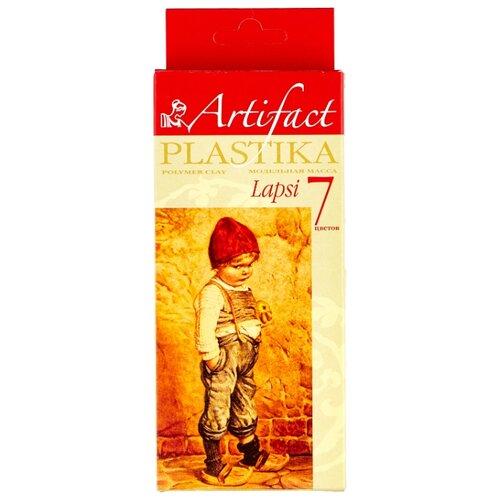 Фото - Полимерная глина Artifact LAPSI 7 классических цветов (7107-8), 140 г полимерная глина artifact lapsi glitter 9 классических цветов с блестками 7109 78 180 г