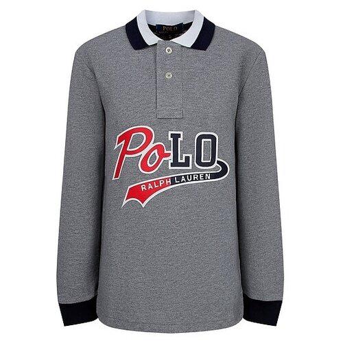 Купить Поло Ralph Lauren размер 92, серый, Футболки и рубашки