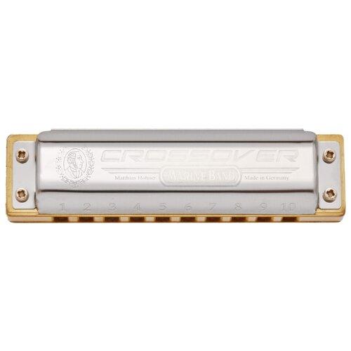 Губная гармошка Hohner Marine Band Thunderbird (M201116X) F Low, бежевый/серебристый
