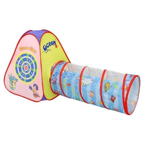 Купить Палатка Yongjia Toys Морской дартс с туннелеем 889-176B Желтый, Игровые домики и палатки