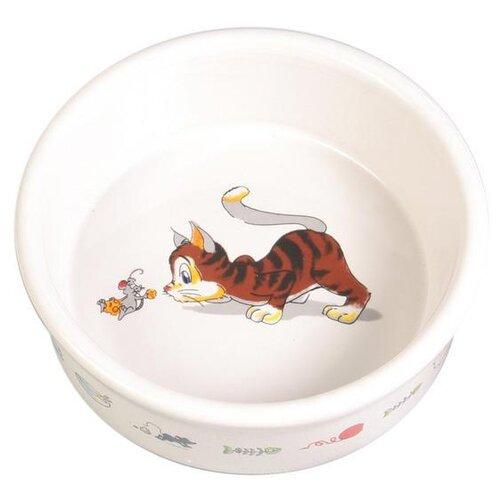 Миска TRIXIE 4007 для кошек 200 мл белый миска trixie 24499 для кошек 250 мл белый