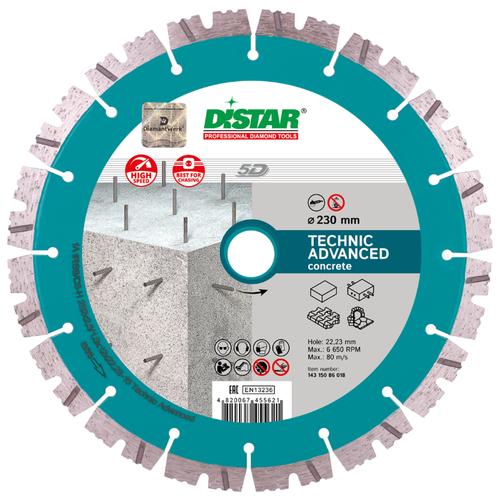 цена на Диск алмазный отрезной 230x22.23 Di-Star 1A1RSS/C3-H Technic Advanced (14315086018) 1 шт.