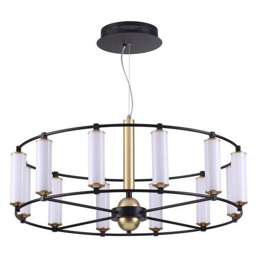 Люстра светодиодная Odeon Light Bebetta 3905/72L, 72 Вт, цвет арматуры: черный, цвет плафона: белый светильник odeon light bebetta 3905 38l
