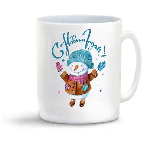 Кружка С Новым годом! Снеговик