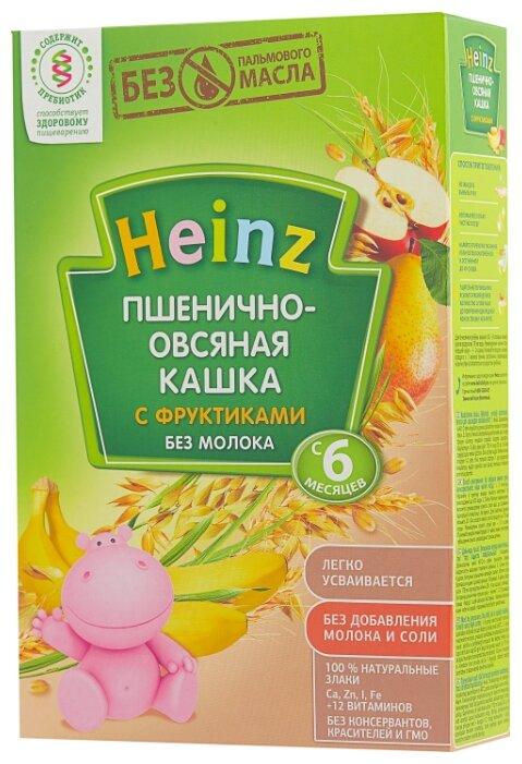 Каша Heinz безмолочная пшенично-овсяная с фруктами (с 6 месяцев) 200 г