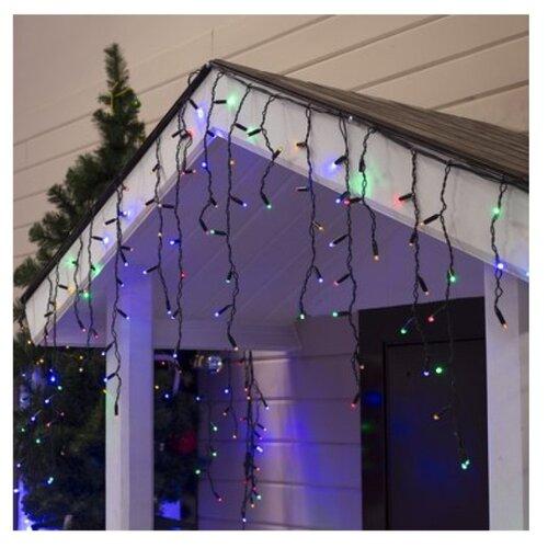 Гирлянда Luazon Lighting Бахрома, 160 LED, 300х60 см, 160 ламп, разноцветный/черный гирлянда уличная lotti бахрома 480 led