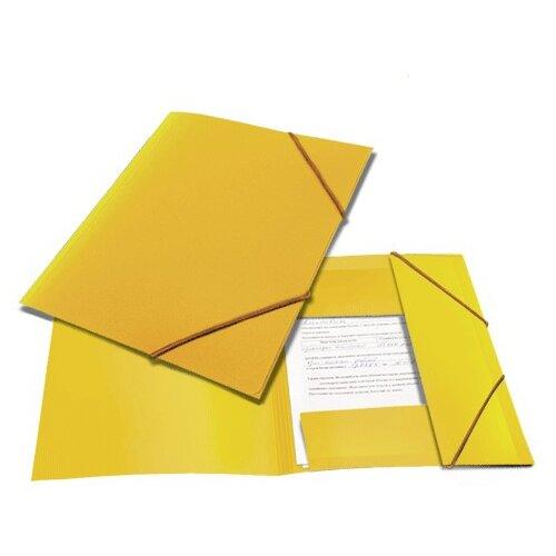 BRAUBERG Папка на резинках Contract A4 желтая папка brauberg a4 390x315x120mm black 223082