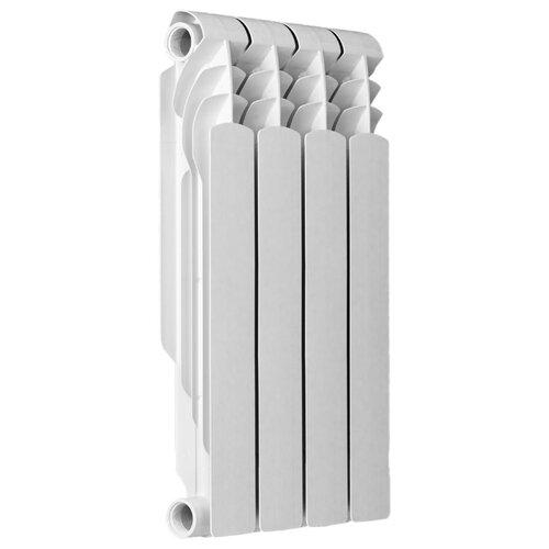 Радиатор секционный биметаллический ATM Metallo 500/80 x4 подключение универсальное боковое белый