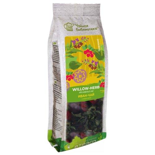 Чайный напиток травяной Teaco Чайная библиотека Иван-чай с клюквой и мятой , 100 г чайный напиток травяной емельяновская биофабрика иван чай с клюквой 50 г
