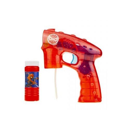 Фото - Пистолет с мыльными пузырями 1 TOY Человек Паук, 60 мл Т17308 красный ледянка 1 toy человек паук т59096 красный синий