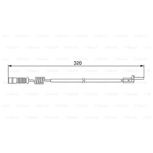 Датчик износа тормозных колодок задний Bosch 1987474964 для Mercedes-Benz M-class