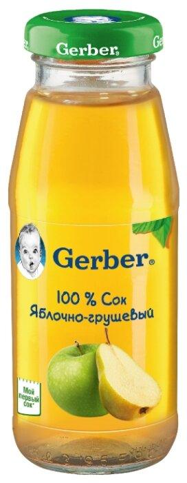 Сок Gerber Яблочно-грушевый, c 4 месяцев