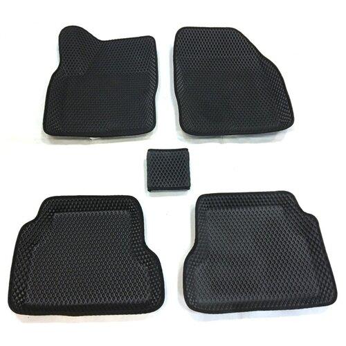 Комплект ковриков Boratex BRTX-10023 5 шт. черный