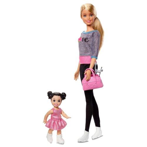 Набор кукол Barbie Спортивная карьера Тренер по фигурному катанию, 29 см, FXP38, Куклы и пупсы  - купить со скидкой