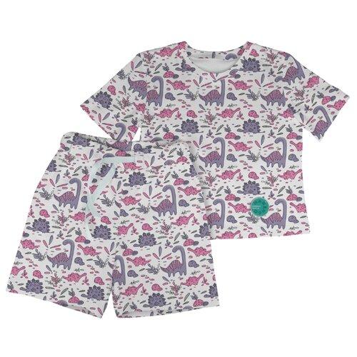 Фото - Пижама Marengo Textile размер 128, белый/розовый/фиолетовый пижама marengo textile размер 128 зеленый белый розовый