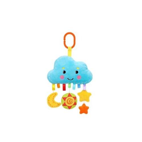 Купить Подвесная игрушка Жирафики Облачко (939726) голубой/желтый, Подвески