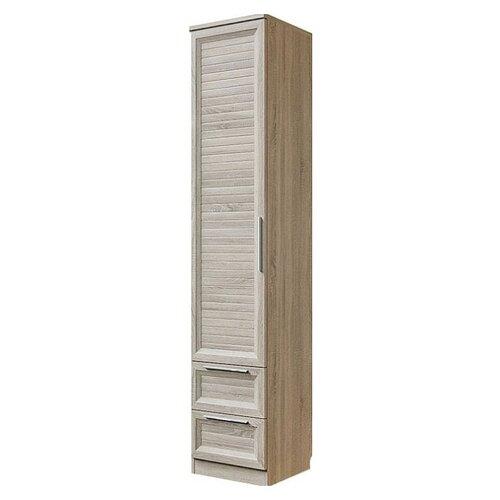 Шкаф для спальни СКАНД МЕБЕЛЬ Шервуд Ш-04, (ШхГхВ): 45х47.7х226.1 см, дуб сонома