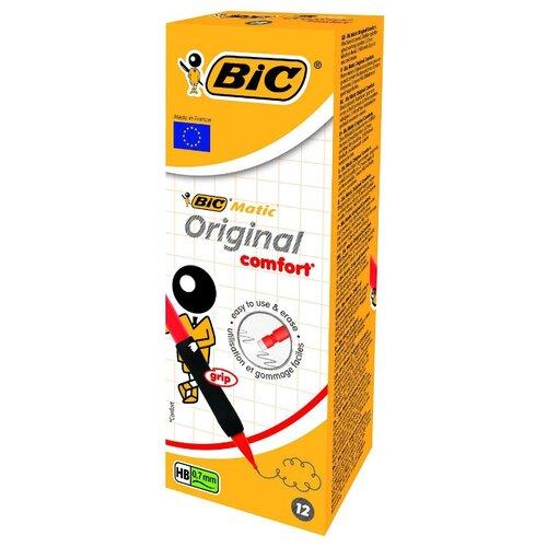 BIC Механический карандаш Matic Grip HВ, 0.7 мм, 12 шт.