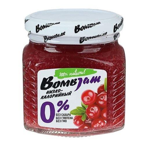 Джем низкокалорийный BombBar Брусника без сахара, банка 250 г