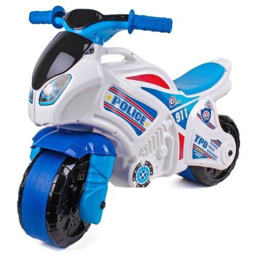 Купить Каталка-толокар ТехноК Мотоцикл (5125) белый/голубой, Каталки и качалки