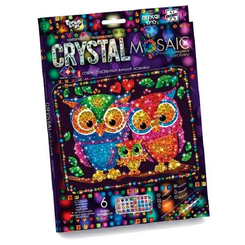 Купить Danko Toys Набор алмазной вышивки Cristal Mosaic Совы (CRM-01-07), Алмазная вышивка