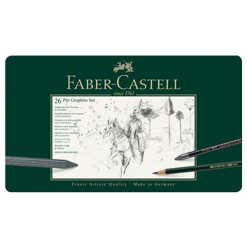 Купить Faber-Castell Набор карандашей Pitt Graphite, 26 предметов (112974), Наборы для рисования