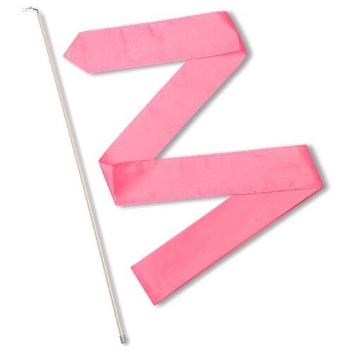 Палочка с лентой для художественной гимнастики Indigo СЕ6 розовый
