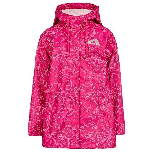Дождевик Oldos Rain collection Зоо размер 104, малиновый куртка для девочки jicco by oldos ирма цвет малиновый 2j8jk01 размер 104 4 года
