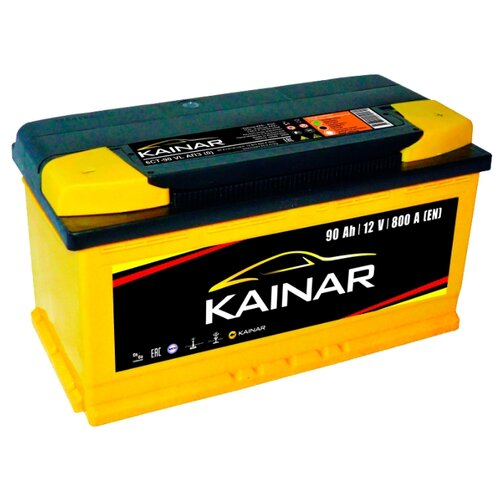 Автомобильный аккумулятор Kainar 6СТ90 VL АПЗ о.п. автомобильный аккумулятор kainar asia 6ст65 vl апз п п 88d23r