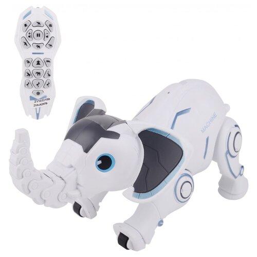 Фото - Робот Zhorya Пультовод Слоник ZYA-A2879 белый радиоуправляемый робот zhorya интерактивный белый кот 2059
