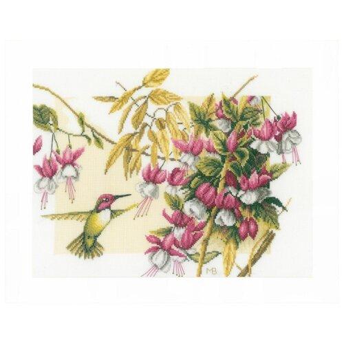 Купить Lanarte Набор для вышивания Колибри и фуксия 38 х 30 см (0165379-PN), Наборы для вышивания