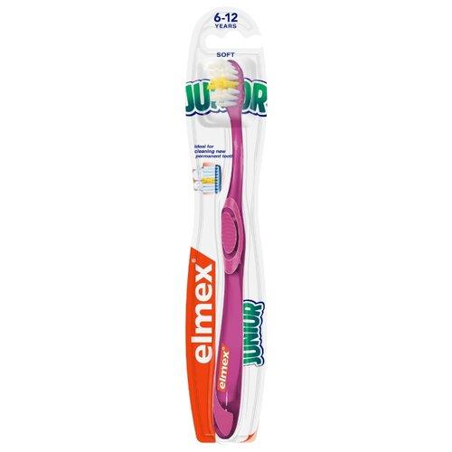 Купить Зубная щетка Elmex Юниор от 6 до 12 лет, розовый, Гигиена полости рта