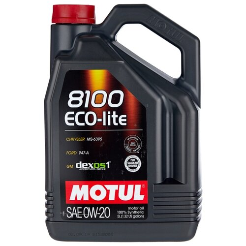 Моторное масло Motul 8100 Eco-lite 0W20 5 л моторное масло motul 8100 eco lite 0w 20 1 л