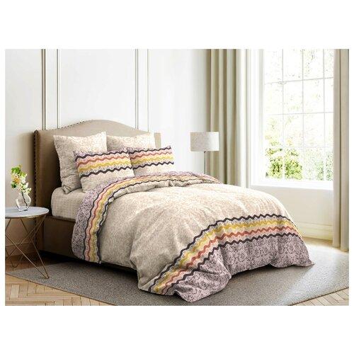 Постельное белье 2-спальное с евро простыней Ночь Нежна Арабика 70х70 см, бязь бежевый цена 2017