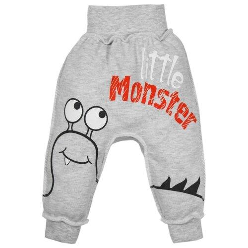 Купить Брюки Amarobaby Monsters серая коллекция ODM6-S0 размер 56, серый, Брюки и шорты