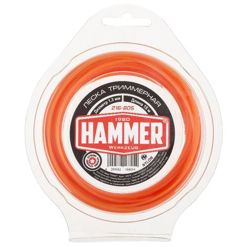 Леска Hammer 216-805 1.3 мм 15 м