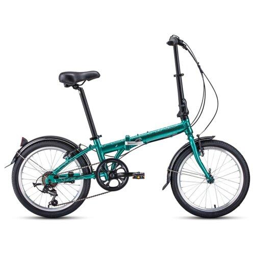 цена на Городской велосипед FORWARD Enigma 20 2.0 (2020) зеленый/коричневый 11