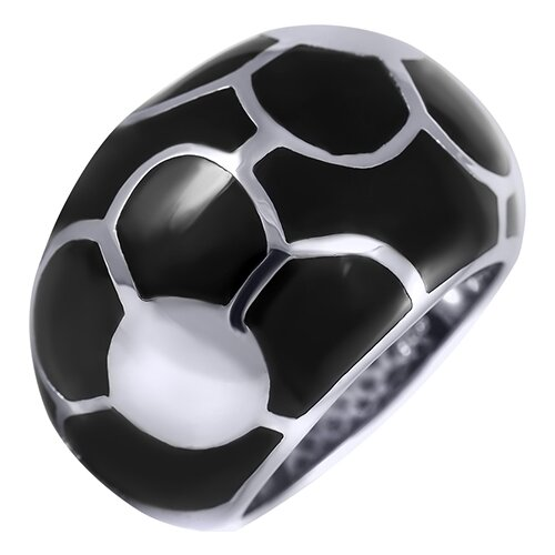 цена на JV Кольцо с ониксом из серебра SBLAR1046-OX-WG, размер 17.5