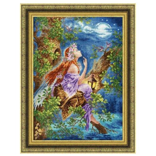 Купить Золотое Руно Набор для вышивания нитками и бисером Лесная мечтательница 38 х 27, 8 см (Ф-035), Наборы для вышивания