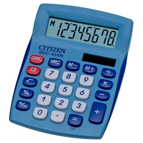 Калькулятор бухгалтерский CITIZEN SDC-450N синий